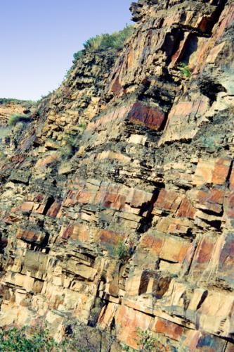 Limestone outcrop. Donetska Folded Structure