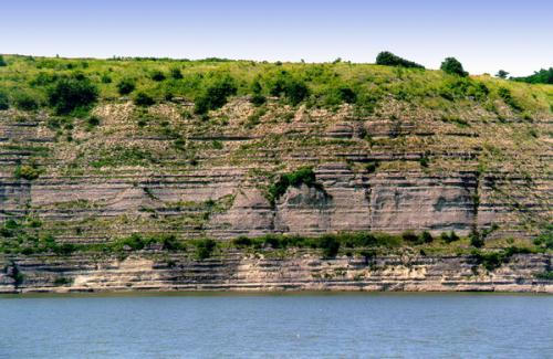 Zalishchyky. Devonian sediments on Dnister coast